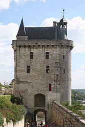 Château de Chinon - La Tour de l'Horloge (clock tower).