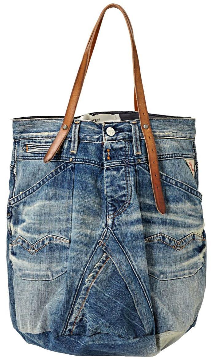 Replay shopper - vroeger maakte we deze tassen gewoon zelf van een oude jeans :)