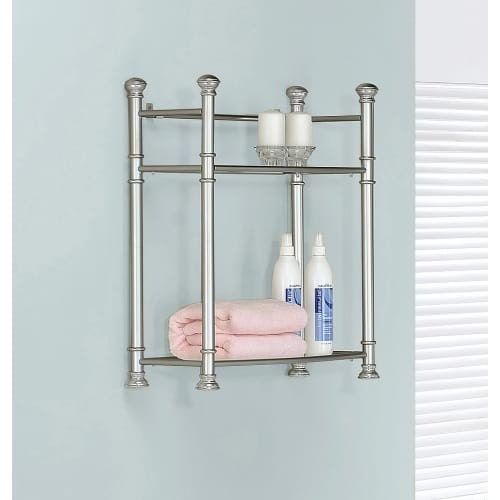 Monarch Specialties Wall mounted shelving unit I Wall-Mounted Shelving Unit with Tempered Glass Shelves