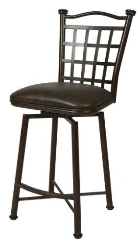 Pastel Furniture BP-219-26-AR-649 Bay Point Swivel Barstool, 26-Inch, Autumn Rust and Florentine Coffee