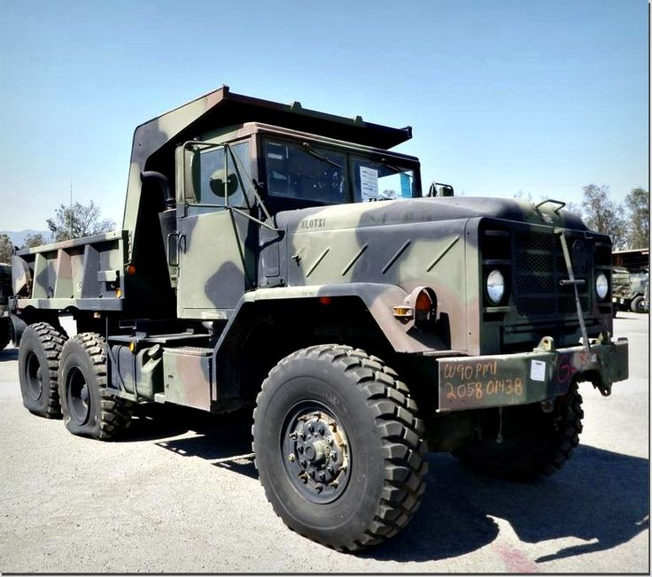 M929A2 5-ton 6x6 Dump Truck with a 6-cylinder Cummins Engine and Automatic Transmission! Find this big guy on GovLiquidation
