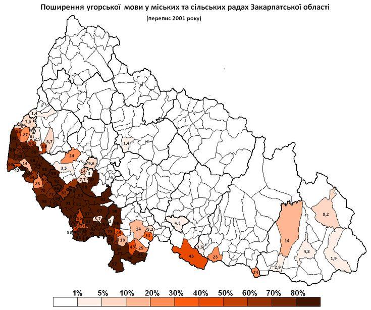 Hungarian minority in Ukraina (Kárpátalja), cenzus 2011.