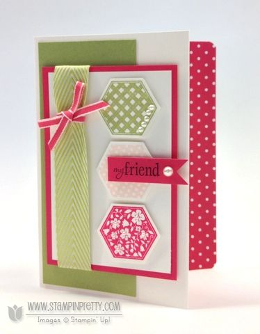 Stampin up stampinup pretty it order online hexagon punch six sided sampler card ideas demonstrator blog