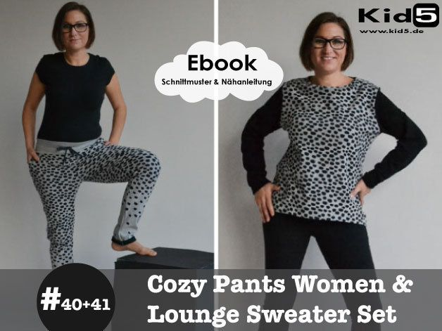 #40 #41 Cozy-Pants-Women + Lounge-Sweater Woman eBook-Set