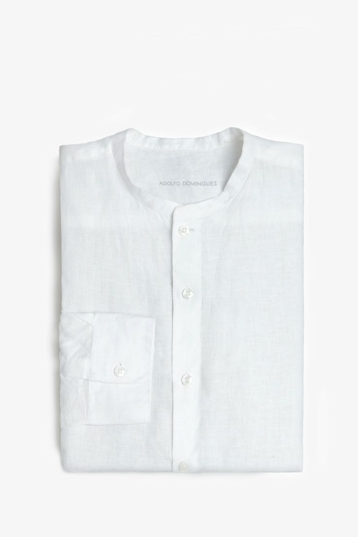 Grandad-Collar Shirt - casual shirts | Adolfo Dominguez