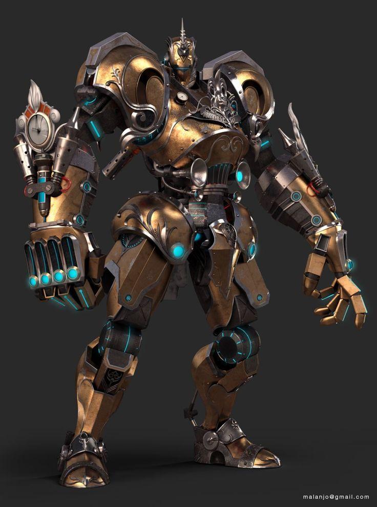 Steampunk robot malanjo on artstation at https www for Concept metal