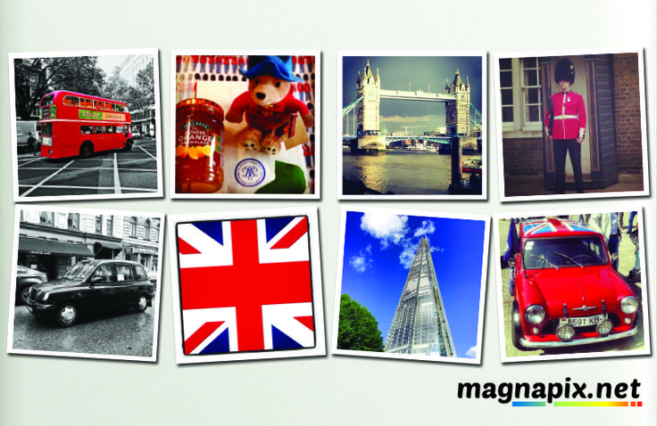 Fridge Magnets, London, Mini Cooper, London Bridge - Order Now at http://magnapix.net/
