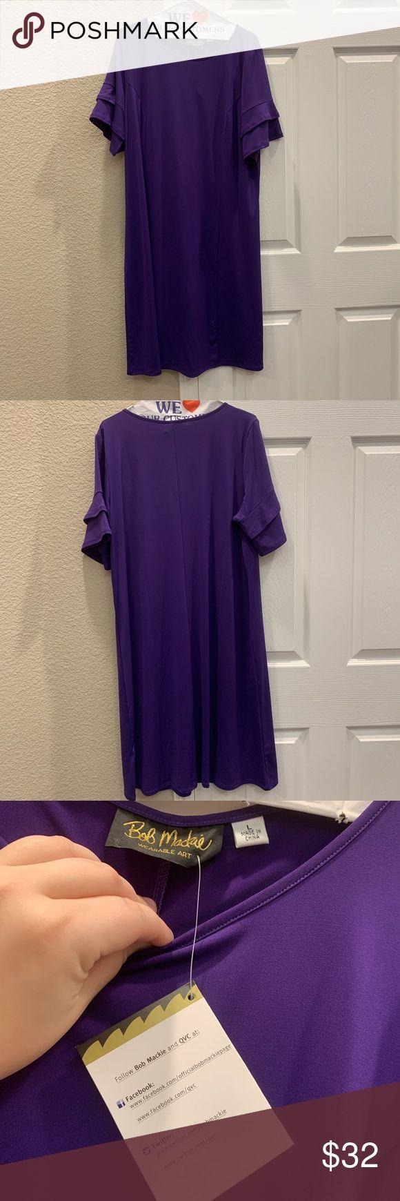 Bob Mackie Wearable Art Via Qvc Purple Dress Animal Print Maxi Dresses Geo Print Dress Maxi Knit Dress [ 1740 x 580 Pixel ]