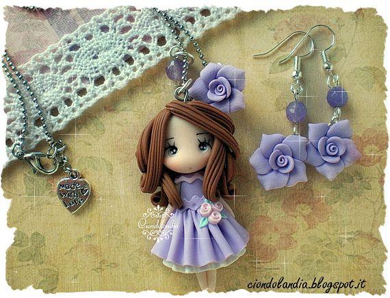 Ehi, ho trovato questa fantastica inserzione di Etsy su https://www.etsy.com/it/listing/516988640/polymer-clay-princess-doll-necklace-free