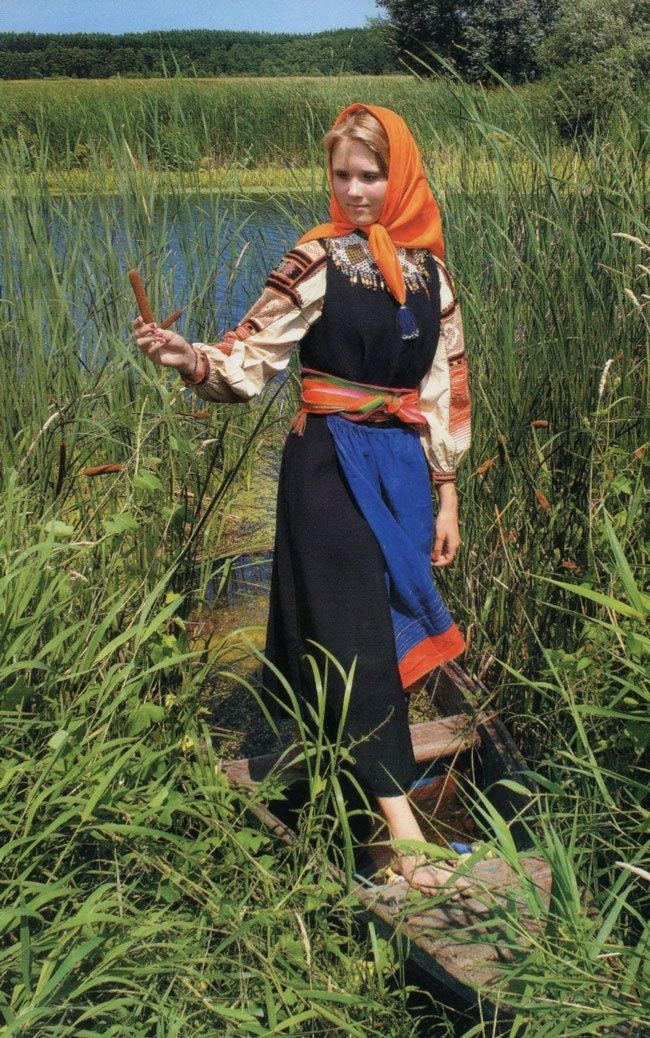 Russian traditional costume. Outfit of a peasant girl from Voronezh Province, late 19th – early 20th century. #folk #art