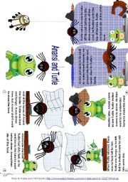 English worksheet anansi and turtle mini book for Anansi the spider coloring pages