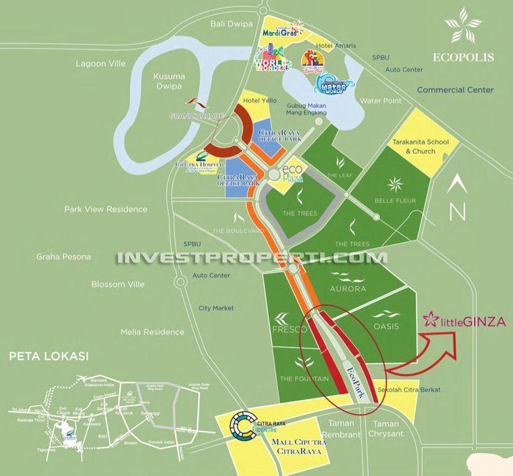 Peta lokasi ruko Little Ginza Citra Raya Cikupa