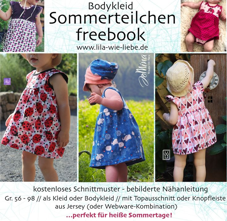 "Freebook Bodykleid ""Sommerteilchen"" (Gr. 56-98"