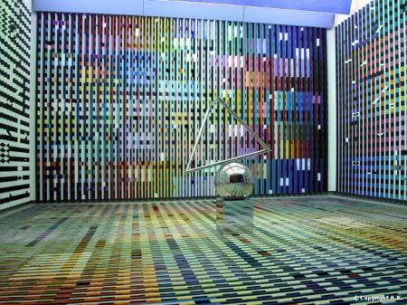 Yaacov Agam (né en 1928) Aménagement réalisé pour le Président G. Pompidou. Antichambre des appartements privés du Palais de l'Élysée.