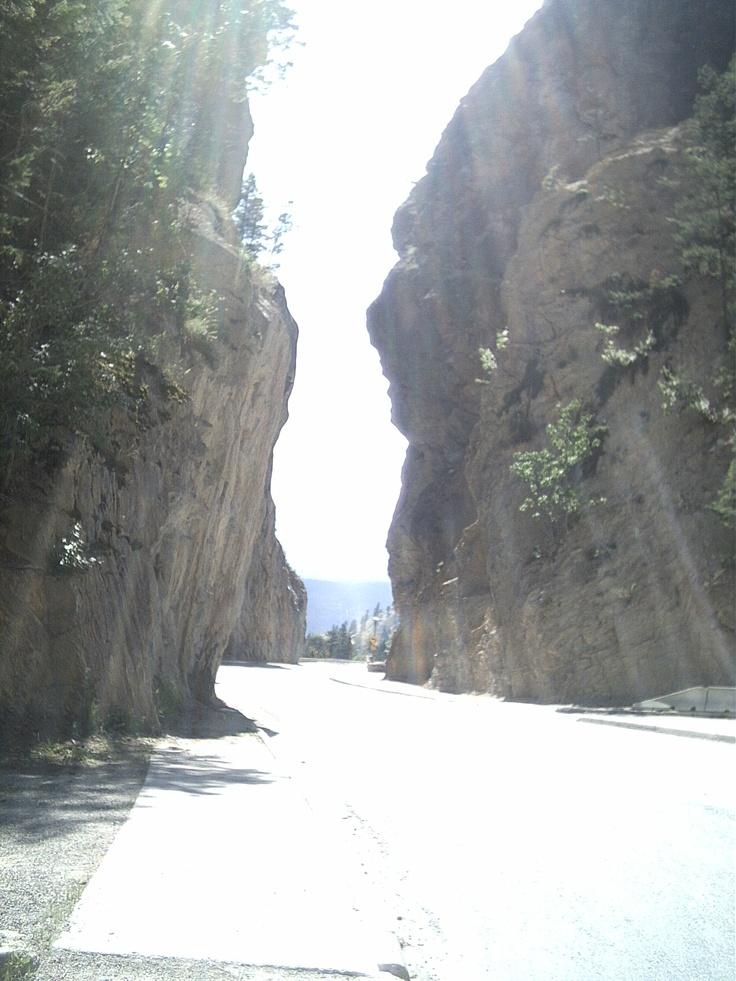 Radium Hot Springs Driving through Canyon Radium BC 2006