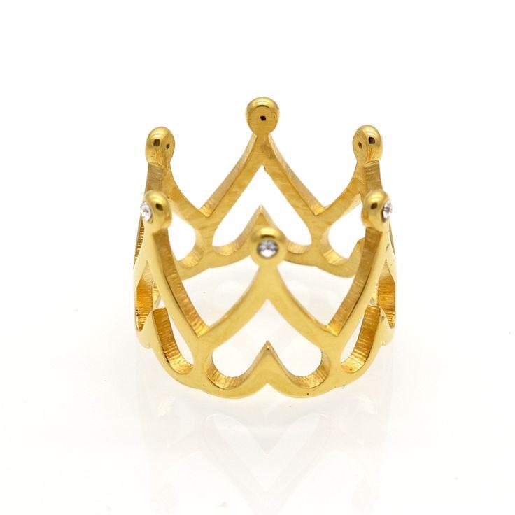 2016 New Arrival Korona Rings Dla Kobiet Symulowane Diament Biżuteria Serce Pierścień Bijoux Vintage Anel Feminino Dla Biżuterii Ślubnej