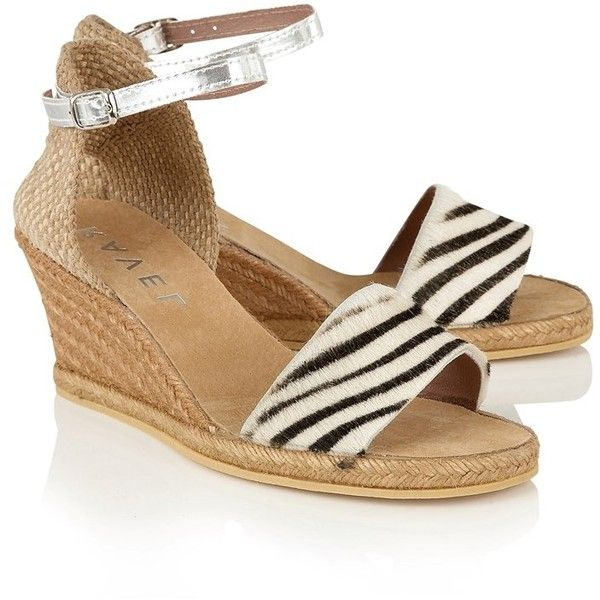 Ravel Animal Print Wedge Sandals ($85) ❤ liked on Polyvore featuring shoes, sandals, wedge sandals, espadrille wedge sandals, animal print wedge sandals, woven wedge sandals and wedge heel sandals