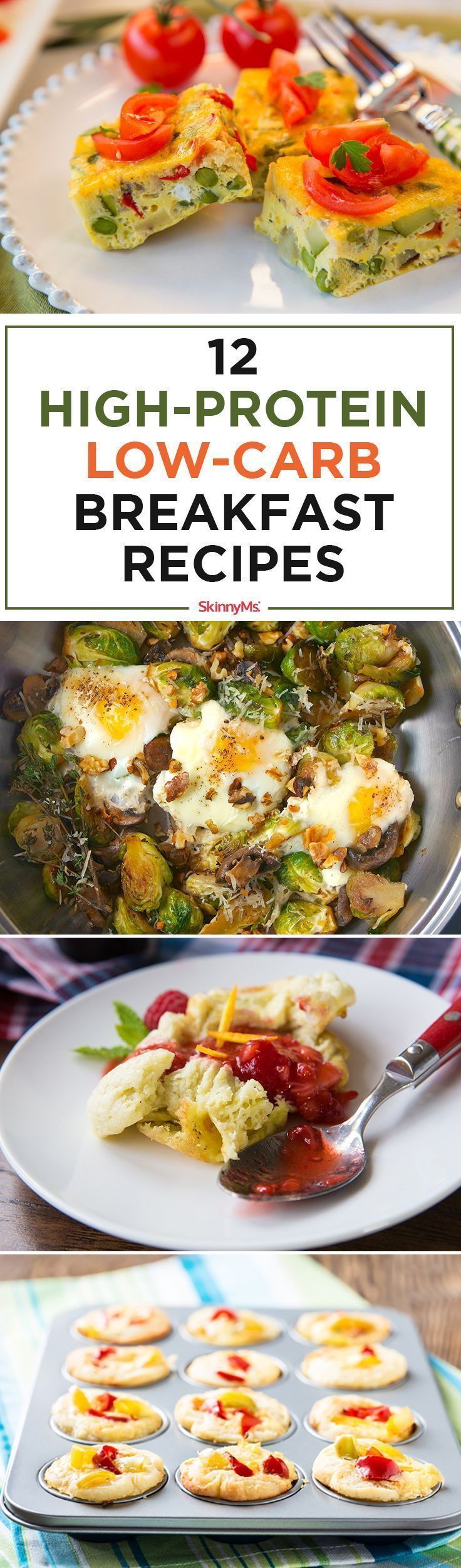 Try these 12 High-Protein Low-Carb Breakfast Recipes. Full of heart healthy fats, lean protein, and filling fiber to stave off hunger all morning long!