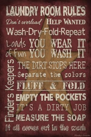 "laundry wooden signs | Vintage Primitive Wood Sign 12"" x 18"" Red Laundry Room Rustic Antique ..."