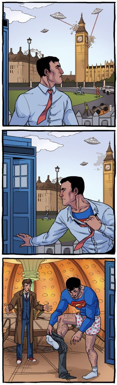 London is confusing for Superman.