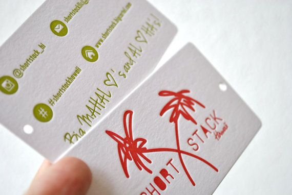 300 Double sided letterpress large hang tags 2 by FunkyPrintStudio