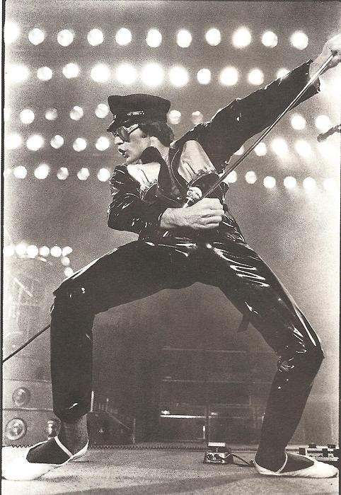 Freddie Mercury onstage.