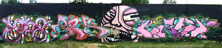 2010 Poland AFX + SW307 Aeros X Fork X GG X Kest #graffiti #poland #spray #fork #kest #afx #GG #aeros