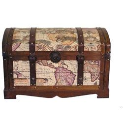 Shop for Old World Victorian Treasure Chest Styled Wood Trunk. Get free delivery at Overstock.com - Your Online Home Decor Shop! Get 5% in rewards with Club O! - 13116356