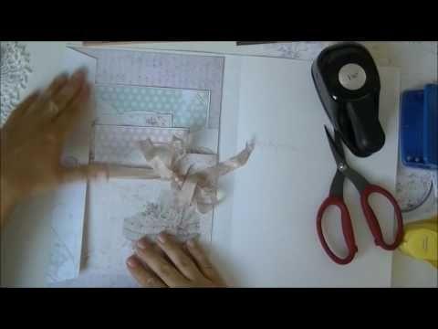 """Bee Shabby: Совместный проект """"Детский альбом"""". Первый разворот + видео МК"""
