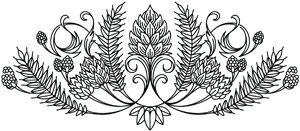 Hops and Grain Crest design (UTH5663) from UrbanThreads.com