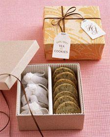 Earl Grey Tea Cookies...bridal shower favors.: Gifts Ideas, Shower Favors, Parties Favors, Bridal Shower, Martha Stewart, Teas Cookies, Teas Parties, Earl Grey Teas, Cookies Favors