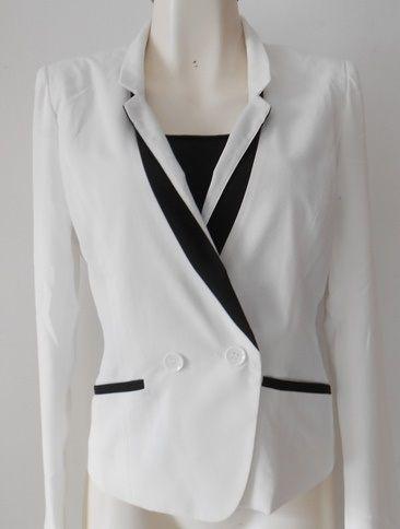 #Blazer blanco dual #chic #fashion $499