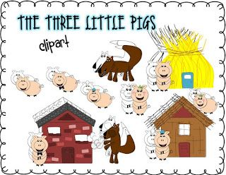 The Enlightened Elephant: The Three Little Pigs Clip Art and a Freebie