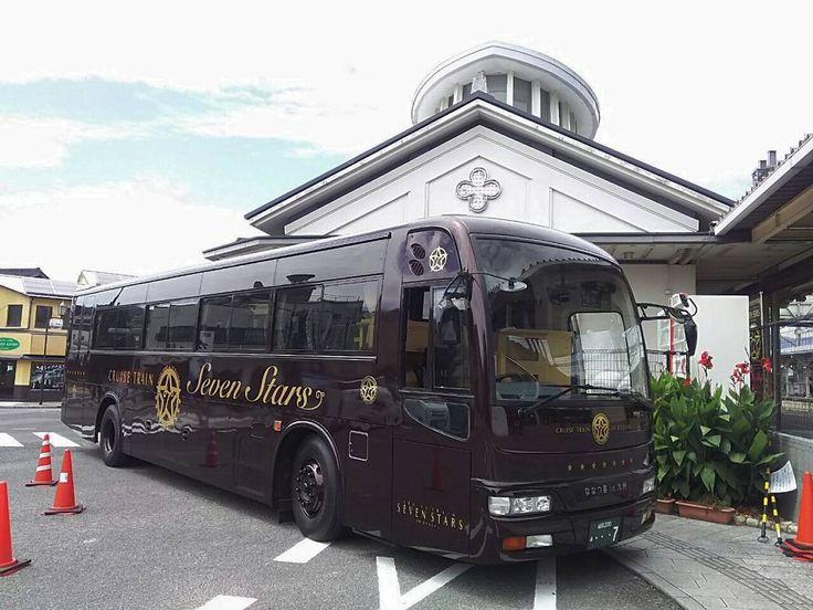 ななつ星in九州専用バス有田から佐世保まではバスで移動するそうです私は偶然見かけただけで乗っていません ;-) #travel #bus #kyushu