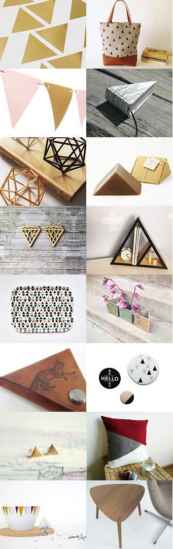 All about the triangle... by Esther Lagarde on Etsy--Pinned with TreasuryPin.com