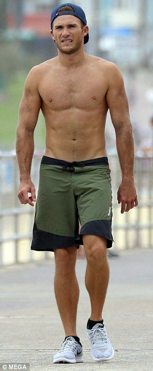 Ripped: The 30-year-old actor is the son of Hollywood legend Clint Eastwood
