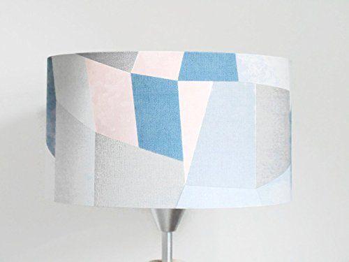 abat-jour géométrique - scandinave - bleu gris rose pastel Luminaire