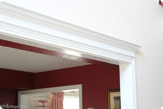 Love the idea of crown molding above a doorway very fancy for Over door decorative molding