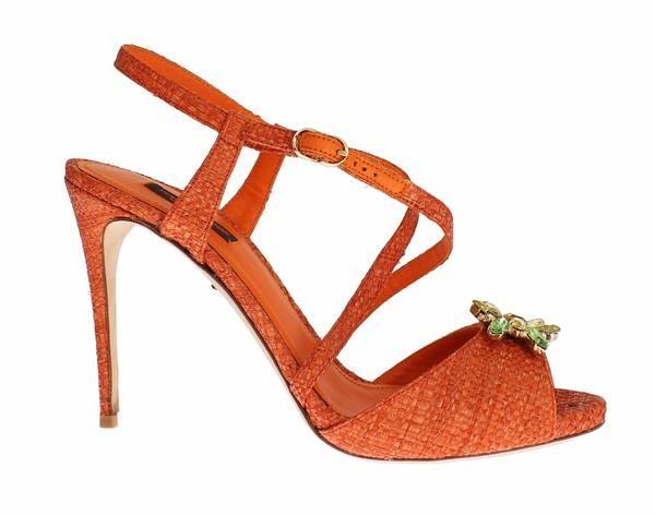 Paglia Crystal Embellished KEIRA Sandals Dolce & Gabbana  MOM26567  €326.00 // €816