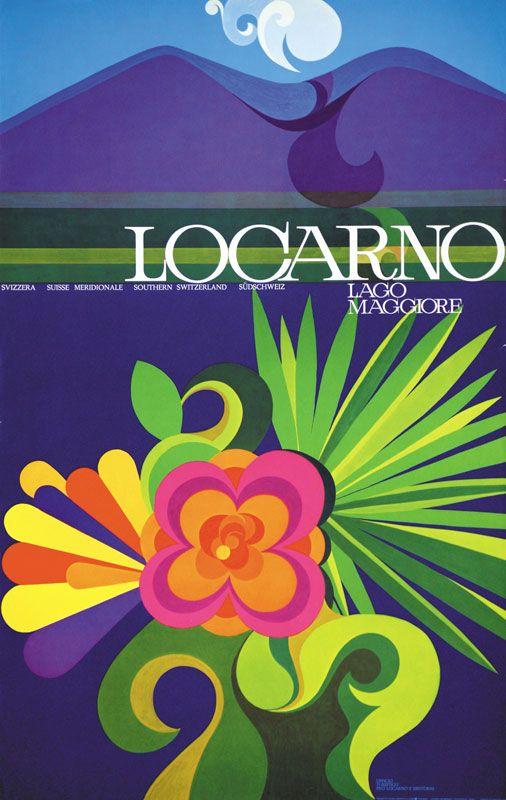 Vintage Travel Poster - Locarno - Lago Maggiore -  Switzerland -  by A. Losa - 1951.