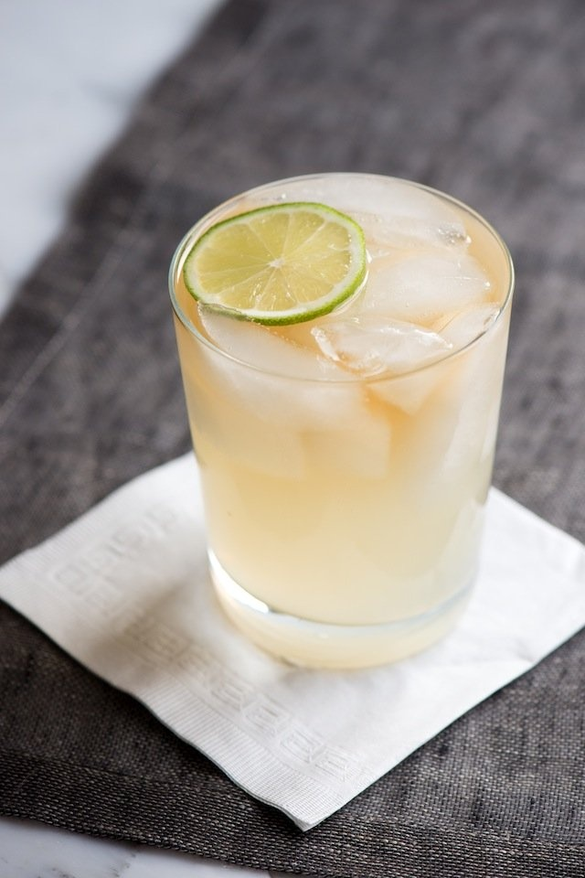 Dark and Stormy Cocktail Recipe from www.inspiredtaste.net #cocktail
