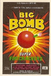 BIG BOMB Brand 16s Pack Label, PYRO COLLECTABLES & MEMORABILIA