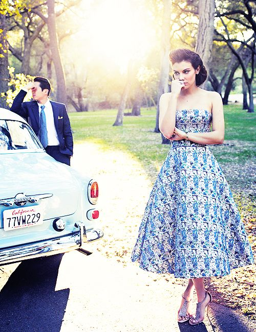 Lauren Cohan and Steven Yeun for Los Angeles Magazine  #The Walking Dead