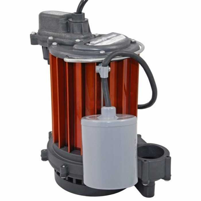 Automatic Sump Pump W Wide Angle Float Switch 10 Cord 1 3hp