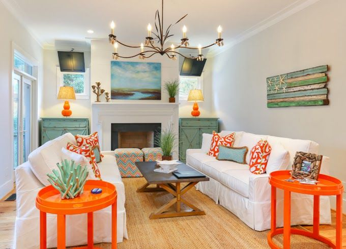 Family Room In Kiawah Island Home Designed By Cindy Mihuc {from House Of  Turquoise Blog
