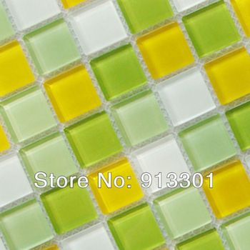 Green Mosaic Tiles Kitchen