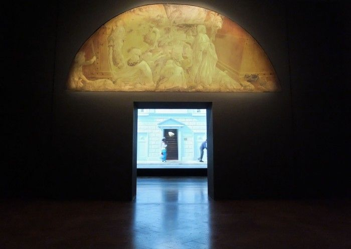 Bill Viola's Deluge and the Deluge by Paolo Uccello at Palazzo Strozzi