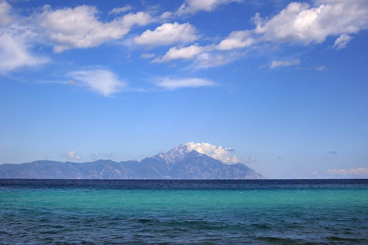 https://flic.kr/p/nVchWG | Sea | Blue paradise of Aegean sea. Mount Atos also known as Holly mountain in the distance, Chalkidiki Greece