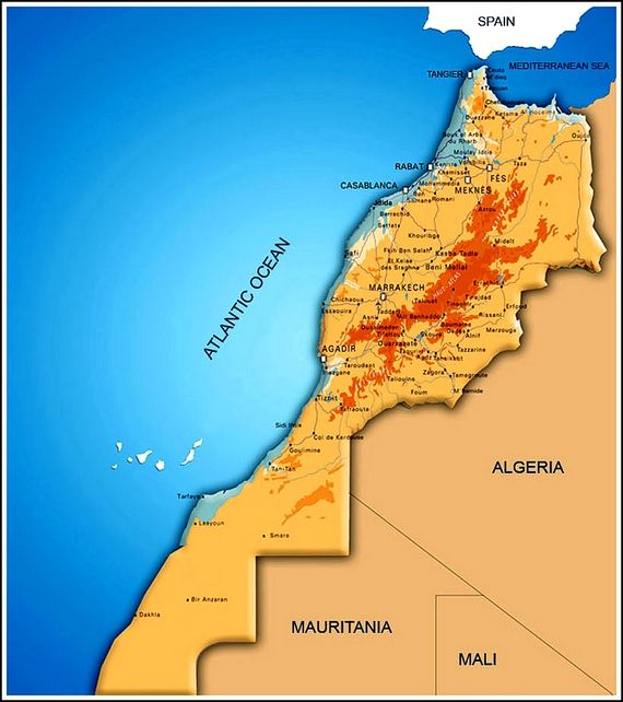 Image result for morocco and neighbouring countries map | Dubai ...