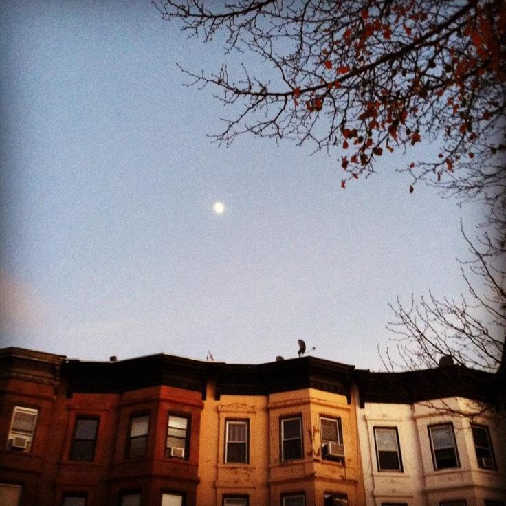 Moon over Park Slope, Brooklyn